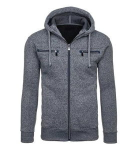 Custom Men Cotton Fleece Fashion Zip Hoodies Sports Pullover Top Clothing (AL031)