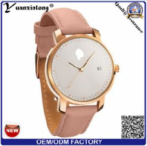 Yxl-552 2016 Fashion Man and Women Business Wrist Leather Mvmt Style Quartz Watch pictures & photos