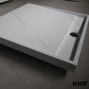 custom size white artificial stone solid surface shower tray