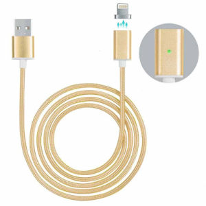 Braided Magnetic Lightning USB Charger Cable for Apple iPhone Samsung pictures & photos