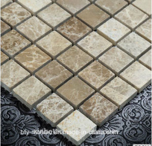 Cheap Price Polished Natural Stone Marble Mosaic Tile on Mesh (FYSC112-1) pictures & photos