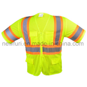 Mesh High Visibility Jacket Reflective Vest with Short Sleeve pictures & photos