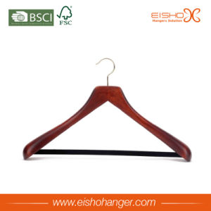 Eisho Flat Body Vintage Durable Wood Coat Hanger pictures & photos