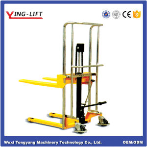 Light Weight Hydraulic Pallet Stacker pictures & photos