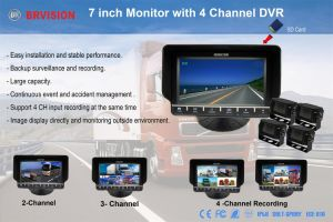 7 Inches Touch Control Car Quad Monitor with DVR Fuction pictures & photos