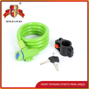 Jq8227-Q Durable Colorful Bicycle Lock Spiral Cable Lock pictures & photos