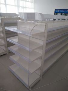White Color Powder Coated Gondola Shelving pictures & photos