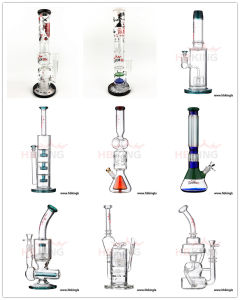Hbking China Wholesale Oil DAB Rig Recyclers Glass Water Pipe, Manufacture Big and Thick Glass Smoking Pipe in Stock pictures & photos