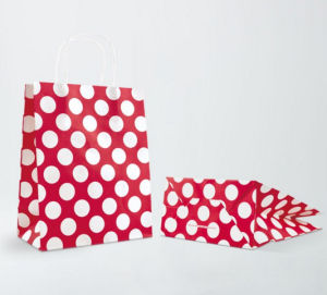 Polka DOT Twisted Handle Paper Gift Bags pictures & photos