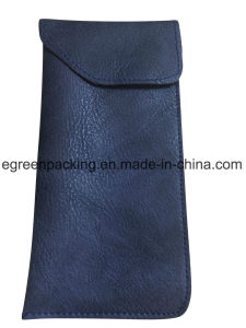 Dark Blue Sunglasses/Eyeglasses Soft PU Leather Case (DS10) pictures & photos