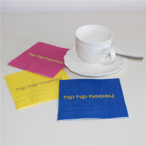 Hip Hip Hooray Pattern Foiling Golden Paper Serviette pictures & photos