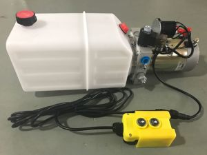 DC 12V 1.6kw Single Acting Hydraulic Power Unit pictures & photos