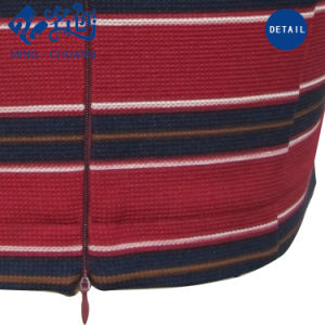 Newstyle Cross-Stripe Red Rear-Zipper Fashion Women Tops pictures & photos