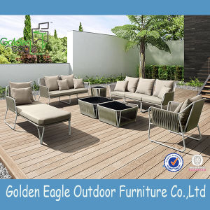 Patio Aluminium Powder Coat L Shape Sofa Set P-S0254 pictures & photos