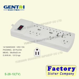 Flame Retardant Multifunctional Universal Surge Protector Power Strip pictures & photos