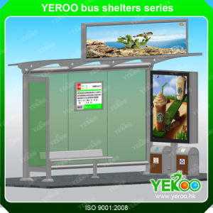 Advertising Stainless Outdoor Waterproof Metal Bus Stop pictures & photos
