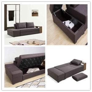 Sectional Sofa Bed with Coffee Table and Double Storage pictures & photos
