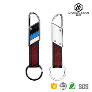 Small Multifunctional Tool Keychain Carbon Fiber Keychain Giveaway Gift Key Ring pictures & photos