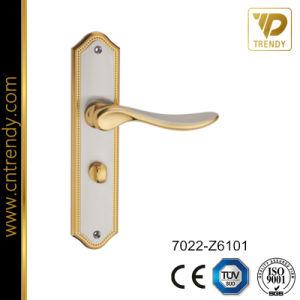 New Design Hardware Handle Zinc Plate Lock Handle (7022-Z6101) pictures & photos