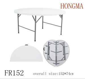 5FT Folding in Half Round Fr152 Round Dining Table Furniture