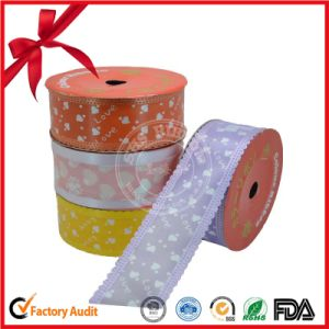 Lace Edge Printed Craft Ribbon Roll for Wedding Scene pictures & photos