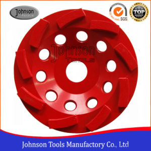 125mm Diamond Swirl Cup Wheel Cup Wheel for Stone and Concrete pictures & photos