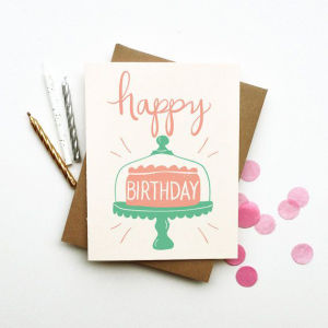 Fancy Custom Gift Paper Birthday Card Printing pictures & photos