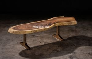 (SL-8503) Luxury Hotel Restaurant Public Furniture Nature Solid Wood Tea Table pictures & photos