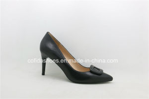 17ss New Trendy Fashion High Heels Leather Women Shoes pictures & photos