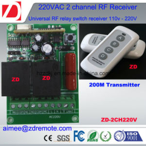 2channel 1000m RF Remote Control Switch 220V / 12V/ 24V pictures & photos