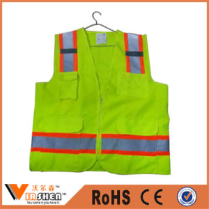 Motorcycle Reflective Safety Vest with Pockets for Policeman pictures & photos