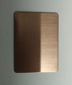 304 Hairline Titanium Color Stainless Steel Sheet Steel Products pictures & photos