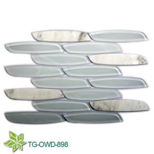 Super White Water Jet Glass Mosaic (TG-OWD-898) pictures & photos
