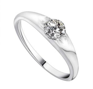 Star Fashion Platinum Plating Wedding Ring Stainless Steel pictures & photos