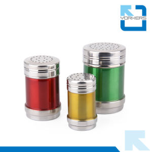 Colourful Multi-Size Stainless Steel Salt and Pepper Condiment Spice Jar Set pictures & photos