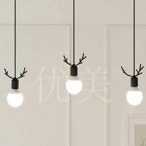 Modern Korean Droplight Individuality Creative Dining-Room Lamp, Wrought Iron Antlers Porch Balcony Study Decorative LED Lamps pictures & photos