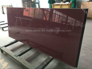Red Panel Healthy Stone for Wall and Floor Holefree Crystallized Stone pictures & photos