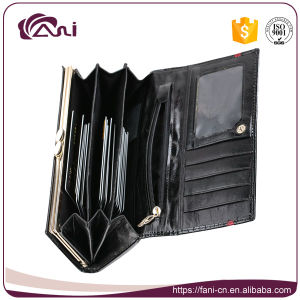Women Wallet Genuine Leather, Black Long Crocodile Skin Women Wallet High Quality pictures & photos