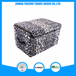 2015 Good Sale White and Black Leopard Printed Storage Bag Box pictures & photos
