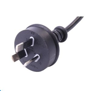Australia SAA 3pins Plug with Foot Switch Power Cord 1.5m Black Color pictures & photos