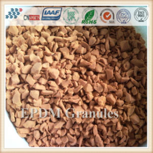 Colorful EPDM Granules/ Crumb Rubber/ Rubber Track for Playground pictures & photos