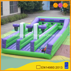 Three Lanes Inflatable Bungee Run with Basketball (AQ1716-6) pictures & photos