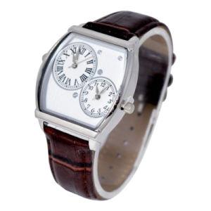 2016 Japan Biquartz Movement Leather Wristband Alloy Case Watch pictures & photos