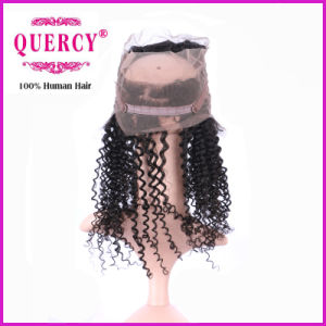 Peruvian Virgin Remy 100% Virgin Human Hair Raw Unprocessed Curly 360 Lace Frontal pictures & photos
