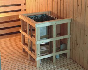 2000mm Solid Wood Sauna for 8 Persons with Double Layer Bench (AT-8641) pictures & photos