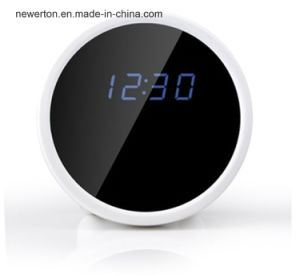 Home Security Wireless 1080P P2p Network Mini IP Digital Alarm WiFi Clock CCTV Camera pictures & photos