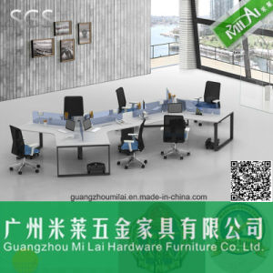 Latest Design Curved Office Desk with Metal Foot pictures & photos