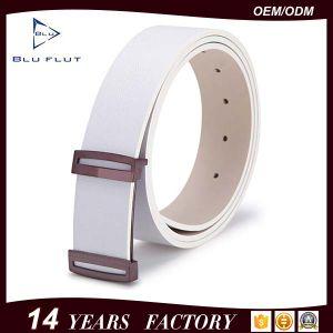Golden Plated Buckle Belt Genuine Leather Men Belts pictures & photos