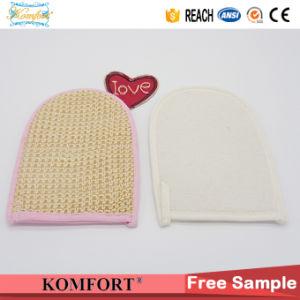 Sisal Softtextile Exfoliating Back Scrubber Mitt Bath Shower Glove (KLB-110) pictures & photos