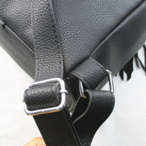 Fashion Black PU Backpack for Lady or Student pictures & photos
